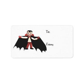 Happy Halloween Vampire Gift Tag