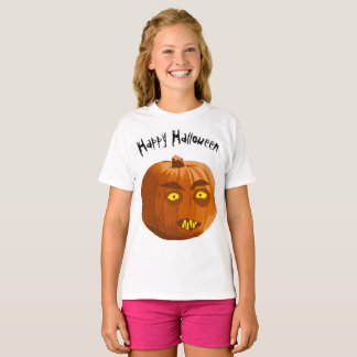 Happy Halloween Vampire Pumpkin T-Shirt