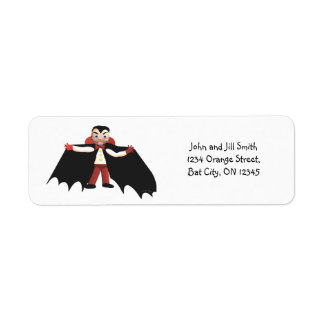 Happy Halloween Vampire Return Address Label