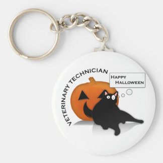 Happy Halloween Vet Tech! Basic Round Button Keychain