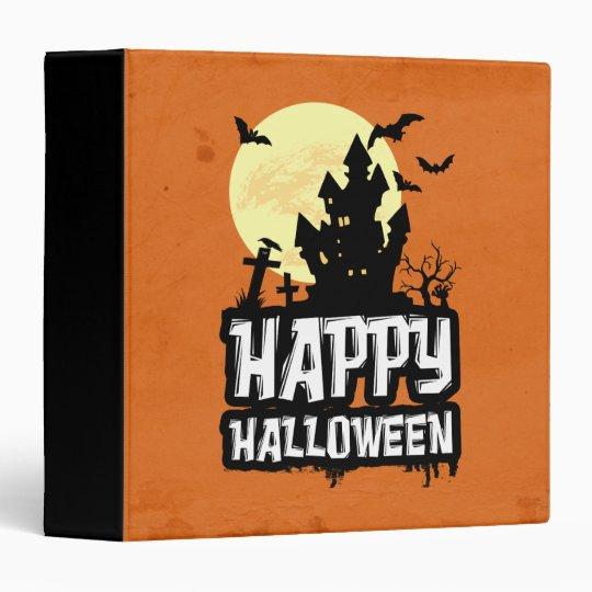Happy Halloween Vinyl Binders