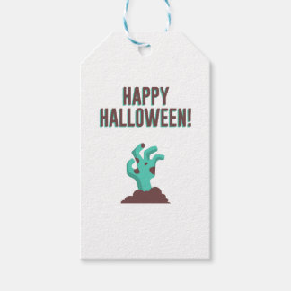 Happy Halloween Walking Dead Zombie Corpse Design Gift Tags