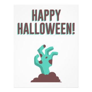 Happy Halloween Walking Dead Zombie Corpse Design Letterhead