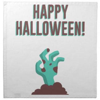 Happy Halloween Walking Dead Zombie Corpse Design Napkin