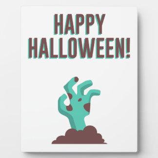 Happy Halloween Walking Dead Zombie Corpse Design Plaque