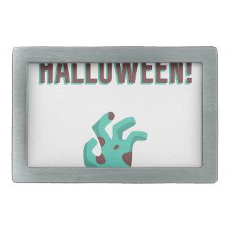 Happy Halloween Walking Dead Zombie Corpse Design Rectangular Belt Buckle