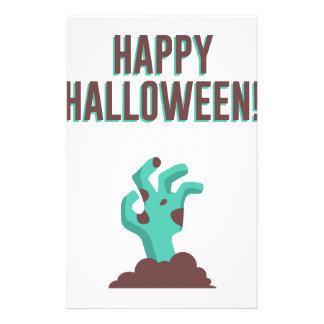 Happy Halloween Walking Dead Zombie Corpse Design Stationery