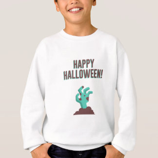 Happy Halloween Walking Dead Zombie Corpse Design Sweatshirt