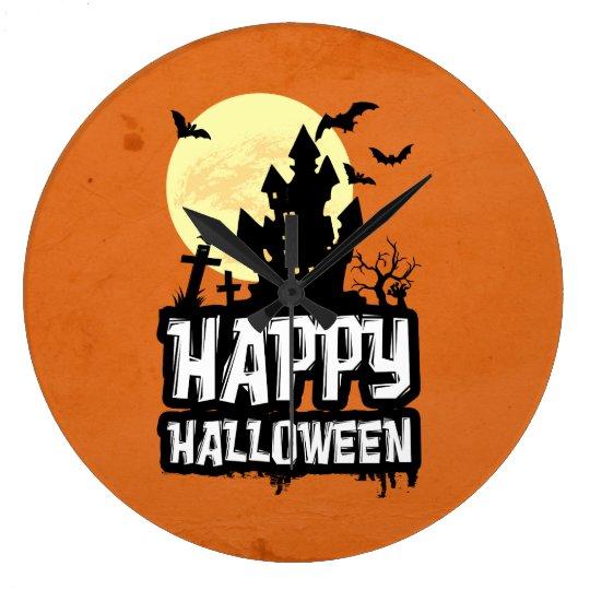 Happy Halloween Wallclock