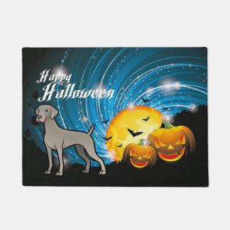 Happy Halloween Weimaraner Doormat