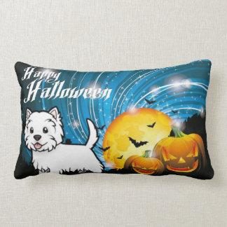 Happy Halloween West Highland Terrier Lumbar Pillow