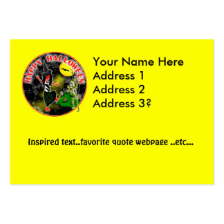 Happy Halloween Whimsical Design Pack Of Chubby Business Cards