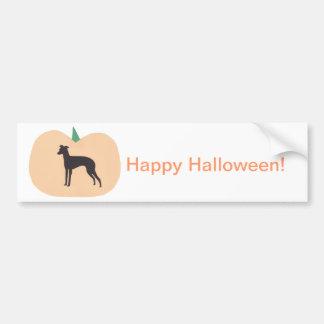 Happy Halloween Whippet Bumper Sticker