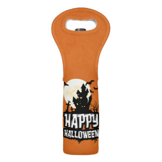 Happy Halloween Wine Bag
