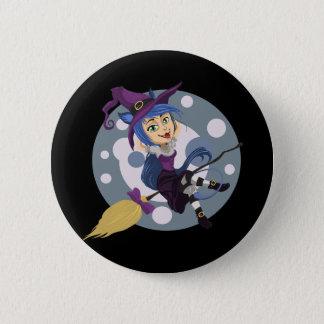 Happy Halloween Witch 2 Inch Round Button