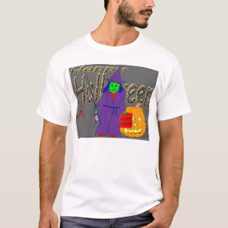 Happy Halloween witch fishing for children T-Shirt