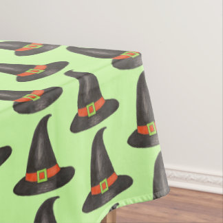 Happy Halloween Witch Hat Trick or Treat Party Tablecloth