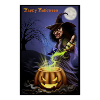 Happy Halloween Witch poster