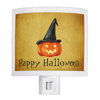 Happy Halloween Witch Pumpkin Night Lights