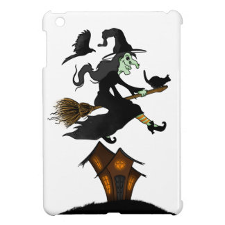 Happy Halloween! Witch Riding to Broomstick iPad Mini Cover
