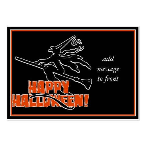 Happy Halloween Witchy Silhouette Business Card Templates