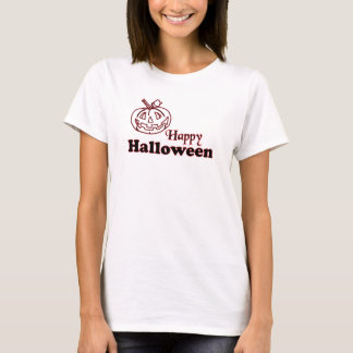 Happy Halloween with Carved Pumpkin Grin T-Shirt