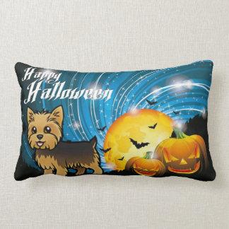 Happy Halloween Yorkie Lumbar Pillow