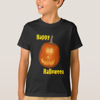 Happy Halloween Youth Black T-Shirt