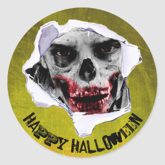 Happy Halloween Zombie Stickers