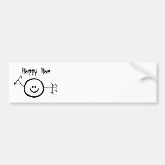 Happy Ham Bumper Sticker - Customize it!