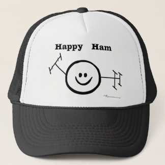 Happy Ham Smiley Trucker Hat