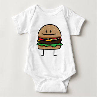 Happy Hamburger Baby Bodysuit