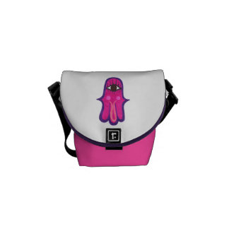 Happy Hamsa Good Luck Jewish Charm Commuter Bag