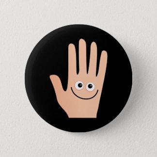 Happy Hand 2 Inch Round Button