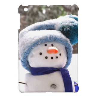 Happy Handmade Snowman iPad Mini Case