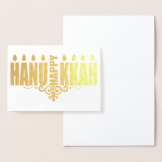 Happy Hannukah Foil Card
