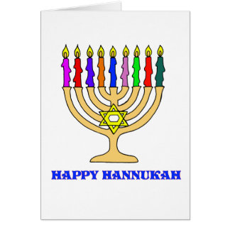 Happy Hannukah Menorah Card