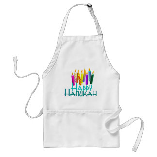 Happy Hanukah Candles Standard Apron