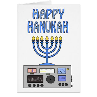 Happy Hanukah Ham Radio Greeting Card