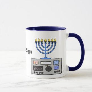 Happy Hanukah Ham Radio Mug