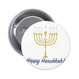 Happy Hanukkah 2 Inch Round Button
