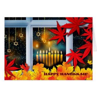 Happy Hanukkah! Autumn Theme Design Cards