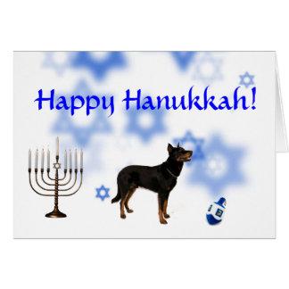 Happy Hanukkah Beaurceron Greeting Cards
