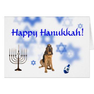 Happy Hanukkah Blood Hound Greeting Cards
