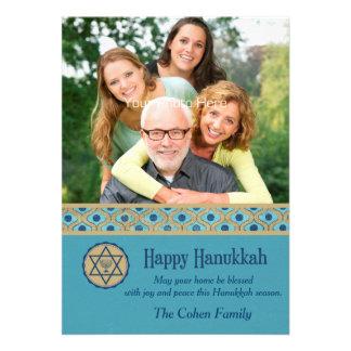 Happy Hanukkah Blue Photo Card
