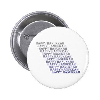 Happy Hanukkah Blue Silver 2 Inch Round Button