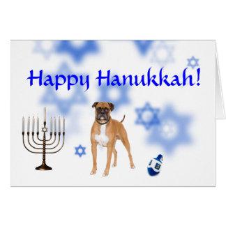 Happy Hanukkah Boxer Greeting Card