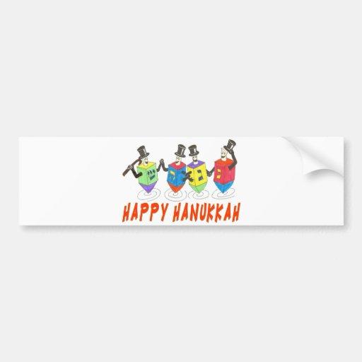 HAPPY HANUKKAH Bumper Sticker Car Bumper Sticker