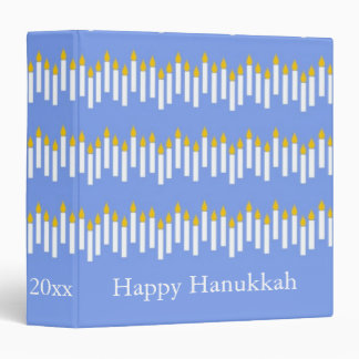 Happy Hanukkah Candles Personalized Scrapbook Vinyl Binders