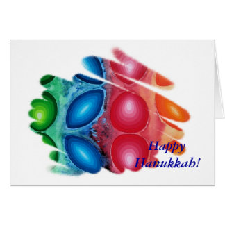 Happy Hanukkah Card Quadric